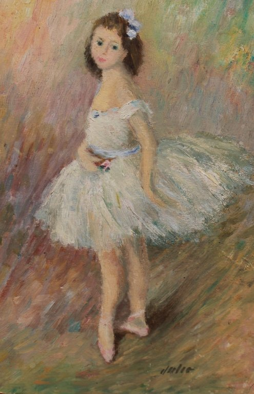 Style of Renoir, Signed Ballerina O/B