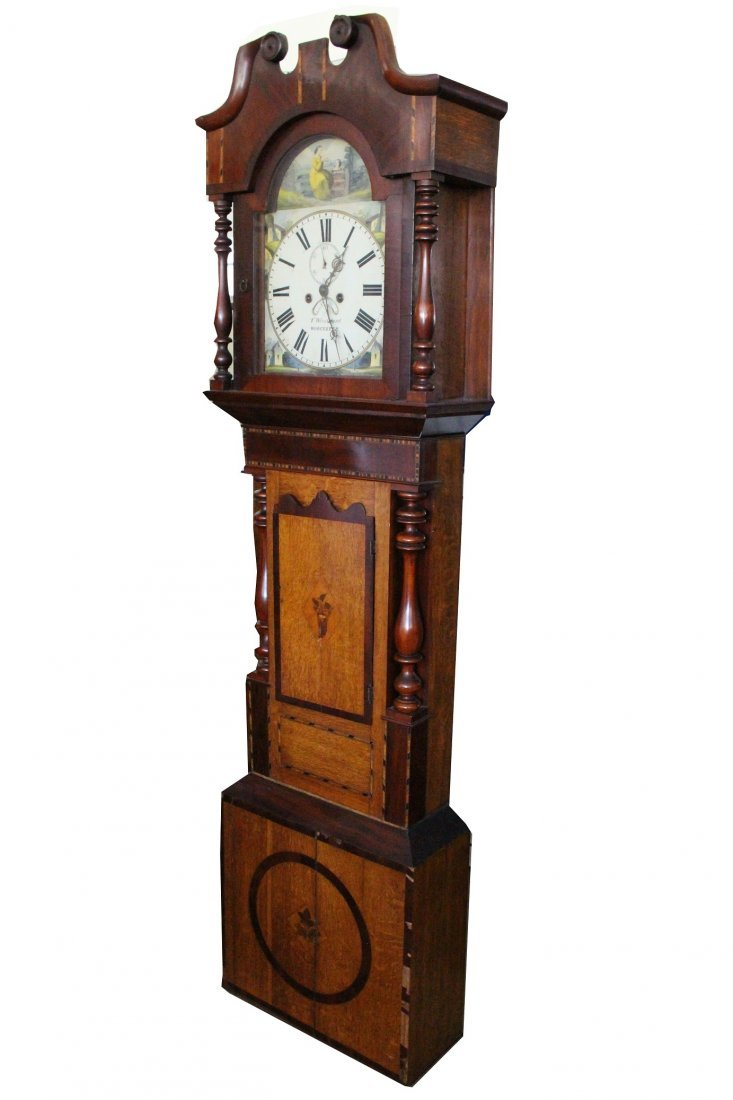 T Woodward Worcester English Grandfather Clock