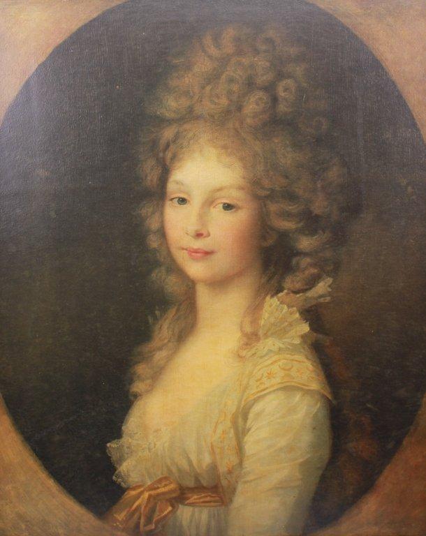 19th C. Framed Print of a European Woman - 2