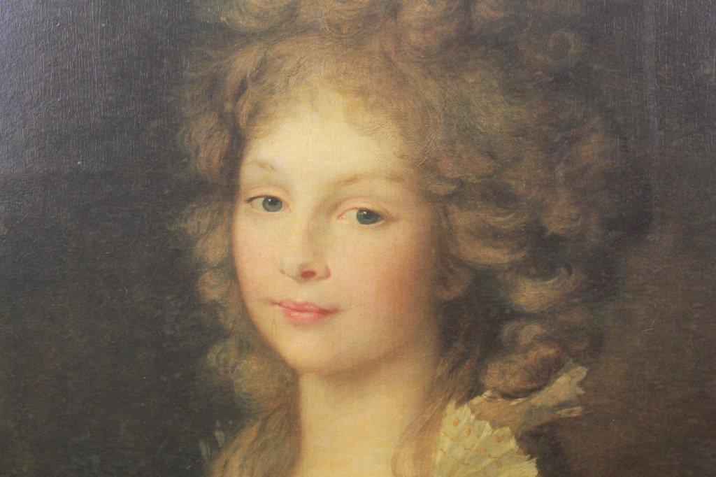 19th C. Framed Print of a European Woman - 3