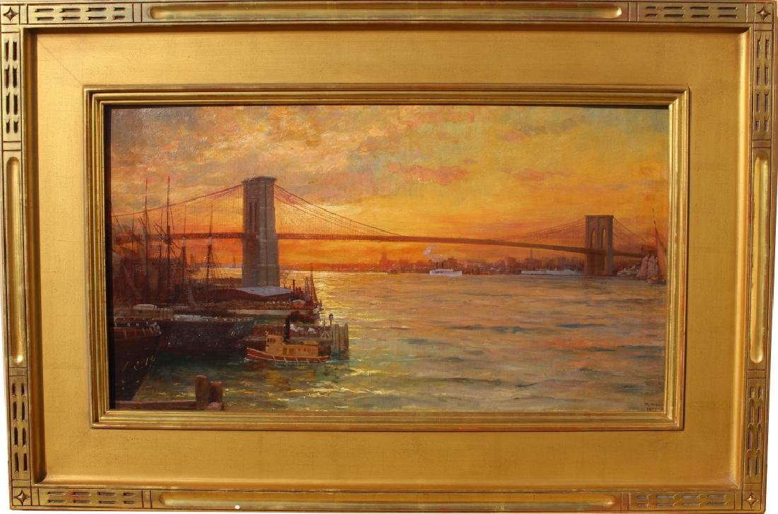 William Lippincott (1849-1920) Brooklyn Bridge NYC
