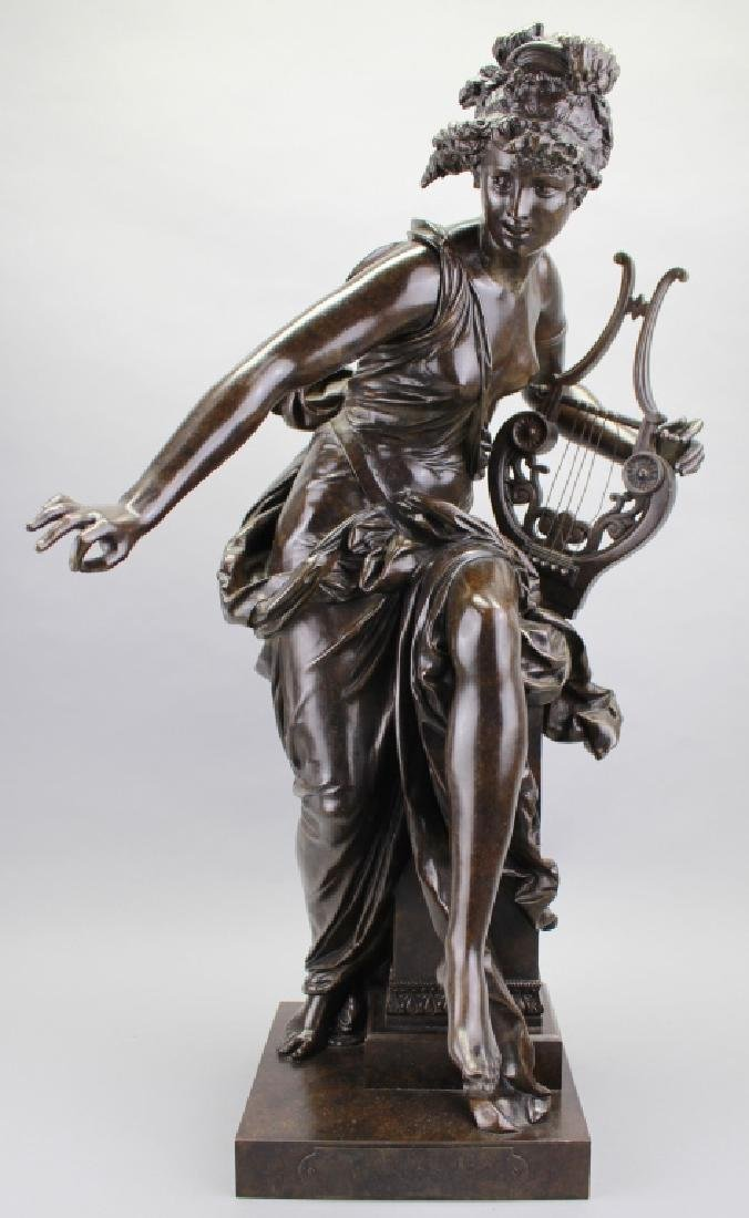 Le Melodie Bronze Statue by A.Carrier Belleuse