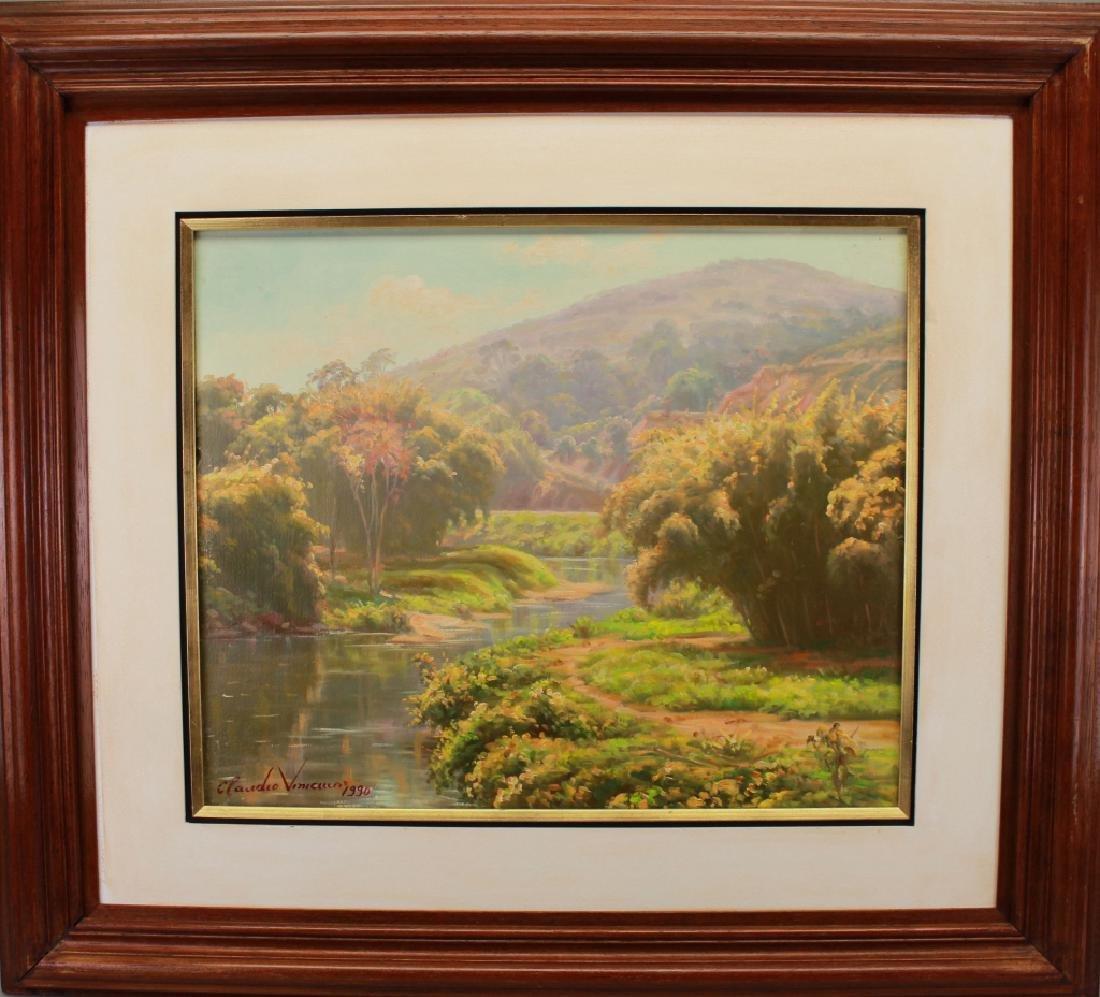 Signed 20th C. Cuban Landscape Painting