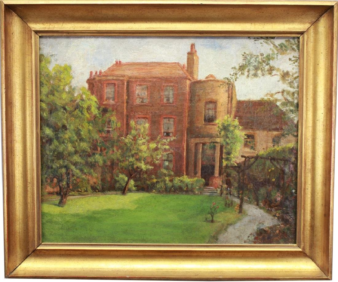20th C. Painting of English Building