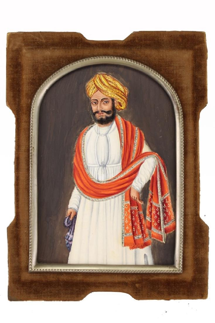 20th C. Painting of Indian Man