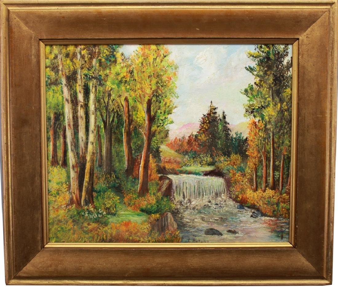 Signed 20th C. Autumnal River Landscape