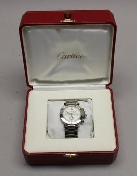 Pasha de Cartier Mens Watch w/ Case