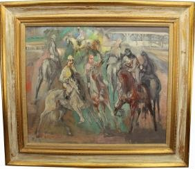 "Jon Corbino (American, 1905 - 1964)""Race Morning"""