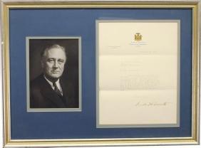 Franklin D. Roosevelt Signed Document