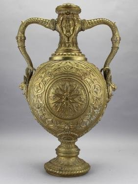 Large 19th C. French Bronze Ewer