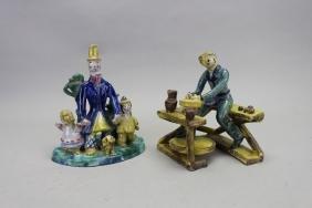 (2) Austrian Werner Werkstatt Ceramic Figures