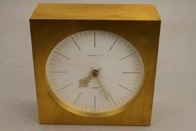 Brass Tiffany & Co. Quartz Clock