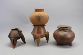 Lot of (4) Pre Columbian Vessels