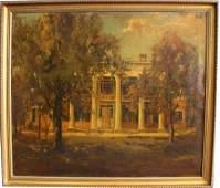 Large 19th C American School Southern Plantation
