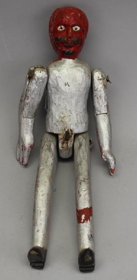 American Folk Art Red Devil Figure