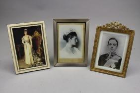 (3) Antique Framed Royalty Portrait Photographs