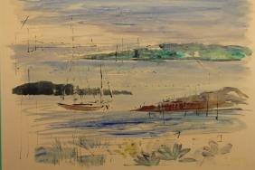 Alfred Birdsey (1912 - 1996) Bermuda Watercolor