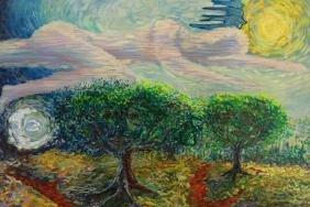 Coates, Signed Post Impressionist Oil/Canvas
