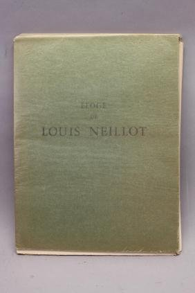 Book of Louis Neillot (1898 - 1973) Lithographs
