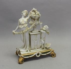 Antique Parian Ware Figural Group
