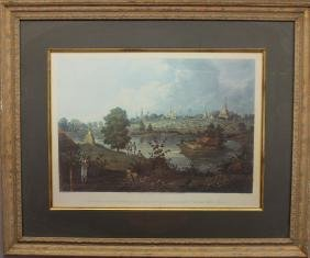 19th C. Hand Colored Engraving,