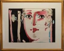"Peter Max (NY, born 1937), ""Visage III"" 1981 Lithograph"