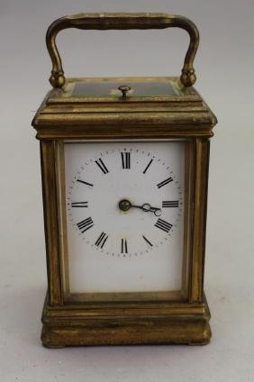 French Bronze Carriage Clock