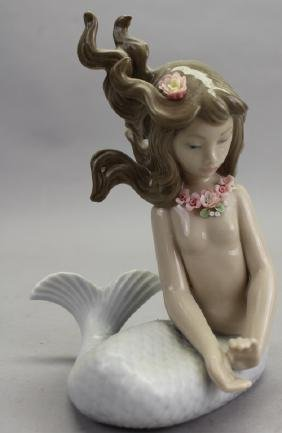 Vintage Porcelain Lladro Mermaid