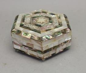 Mother of Pearl Carved Inlaid Jewelry Box