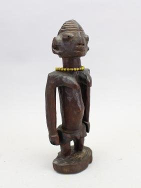Carved African Figure, Beaded Decoration