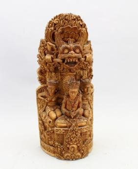 Elaborate 20th C. Balinese Garuda Carving