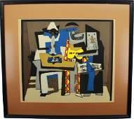 Pablo Picasso 3 Musicians lithograph