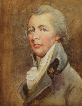 19th C. Portrait of a General, Watercolor