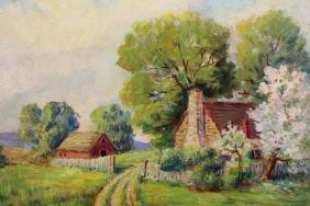 20th C. American Impressionist Rural Landscape