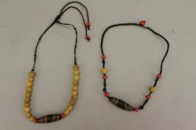 (2) Misc. Beaded Necklaces