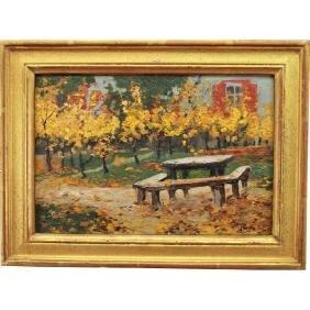 American School, 20th C. Autumnal Scene