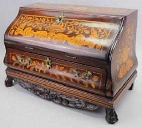 19th C. Dutch Marquetry Diminutive Desk