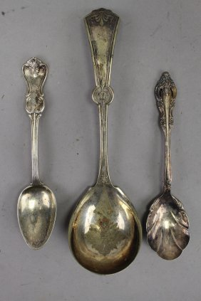 (3) Misc. Silverplate Serving Spoons