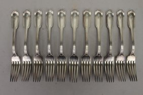 (11) Gorham Silverplated Forks