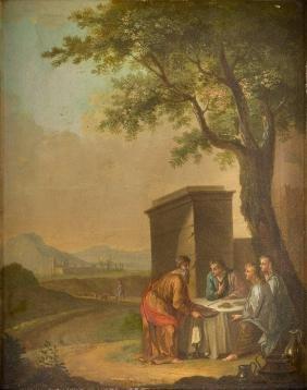 ABRAHAM BEWIRTET DIE ENGEL