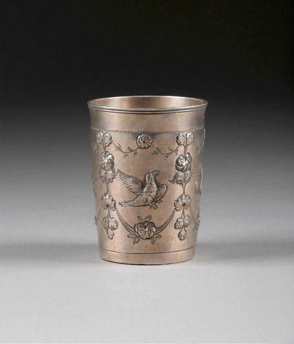 A SILVER BEAKER WITH EAGLES Russian, Moscow, Alexey
