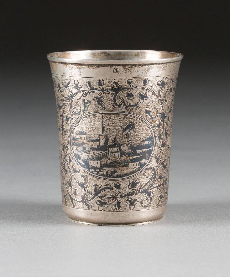 A SILVER AND NIELLO BEAKER Russian, Moscow, Andrey