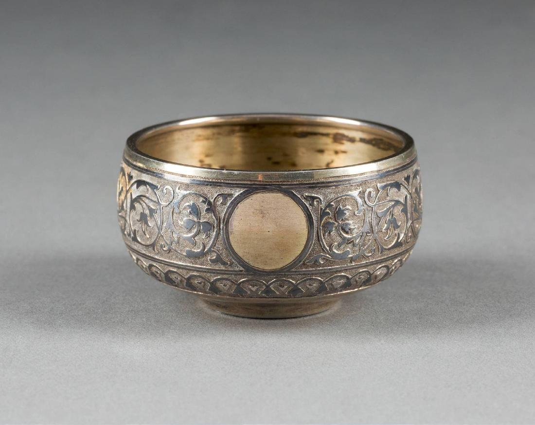 A SILVER-GILT AND NIELLO SALT Russian, Moscow, M.