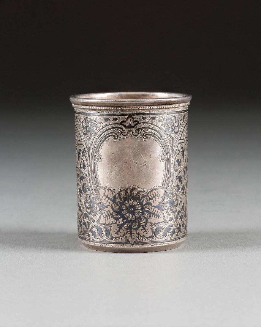 A SILVER AND NIELLO BEAKER Russian, St. Petersburg,