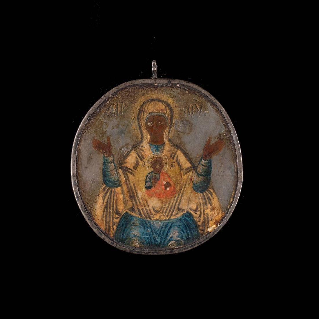 A DOUBLE-SIDED PECTORAL ICON SHOWING THE MOTHER OF GOD - 2