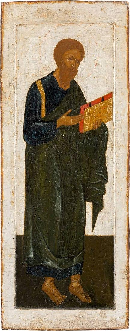 A LARGE ICON SHOWING THE APOSTLE AND EVANGELIST ST.