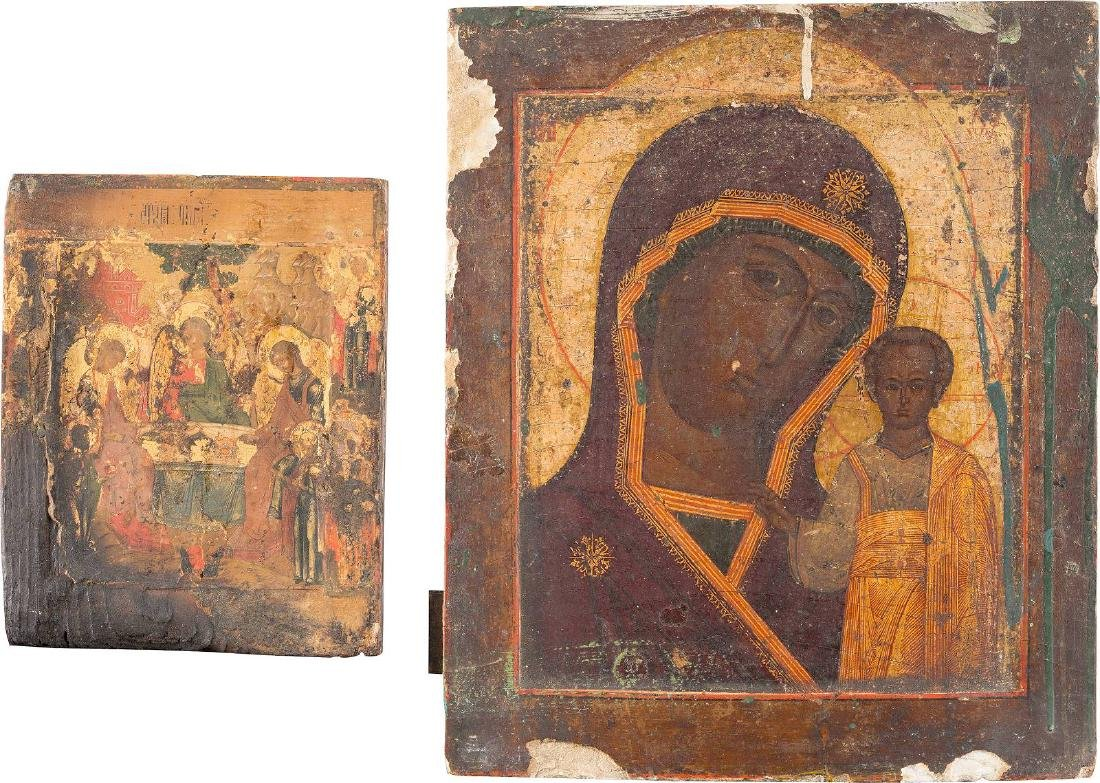 TWO ICONS: THE KAZANSKAYA MOTHER OF GOD AND THE OLD