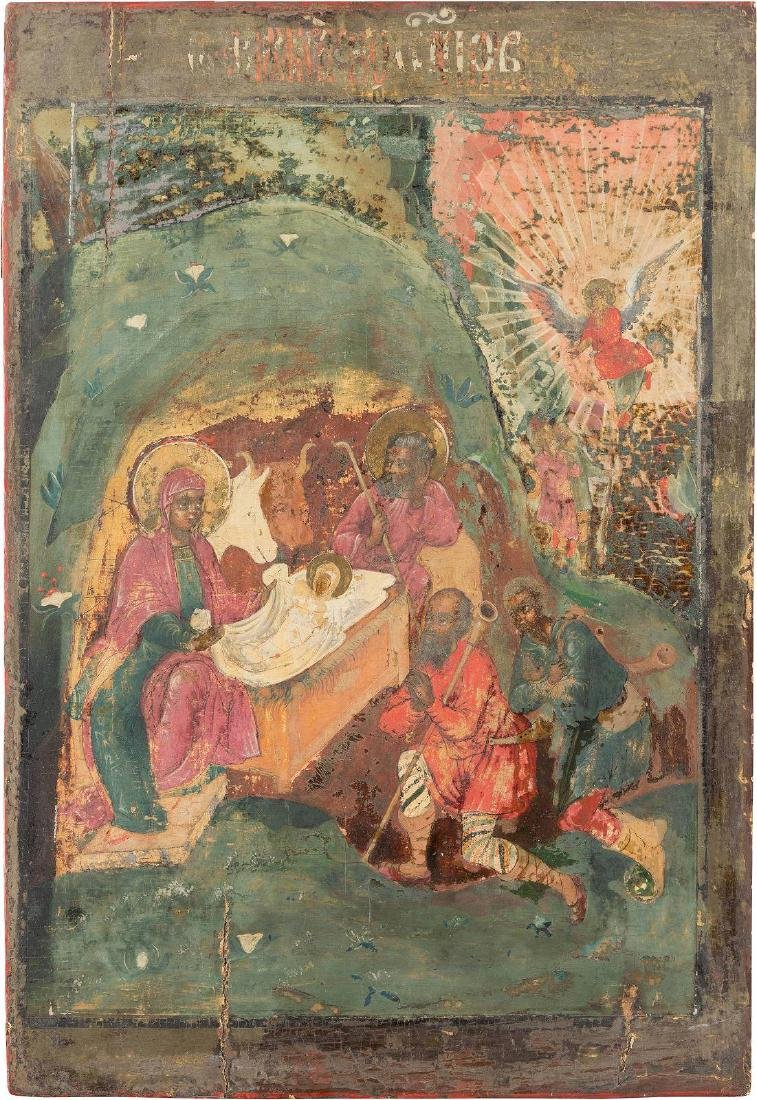 TWO LARGE ICONS FROM A CHURCH ICONOSTASIS: THE