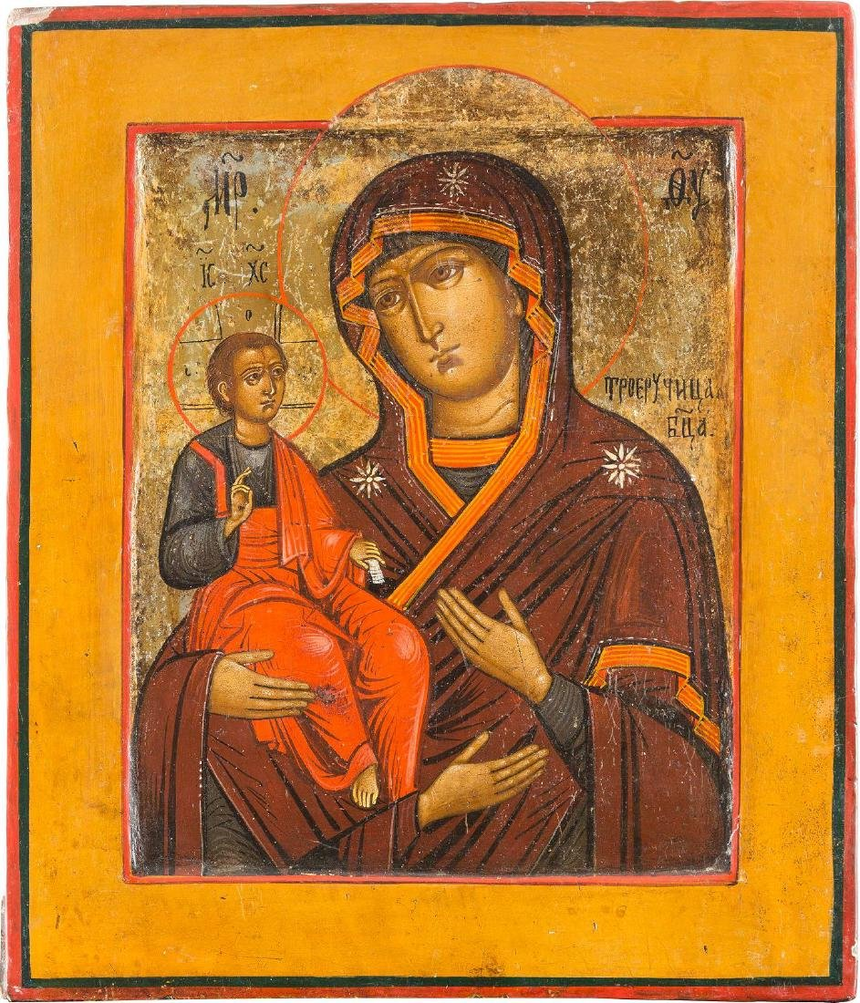 AN ICON SHOWING THE THREE-HANDED MOTHER OF GOD Russian,