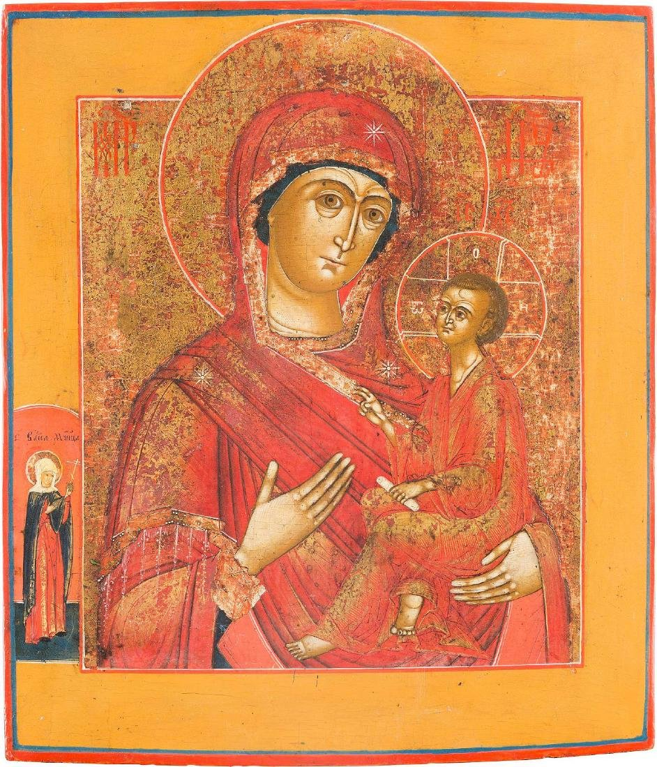 AN ICON SHOWING THE IVERSKAYA MOTHER OF GOD Russian,